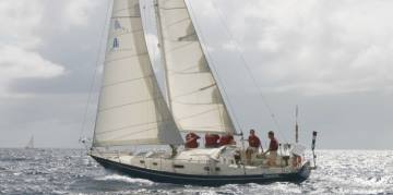 Pro Sail Curacao - Sailing at sea with skipper