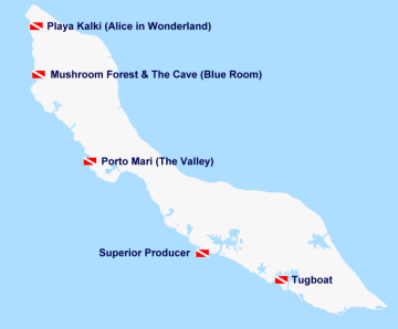 Map of Dive and Snorkel Spots