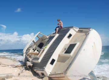 Stranded-Sailing Boat