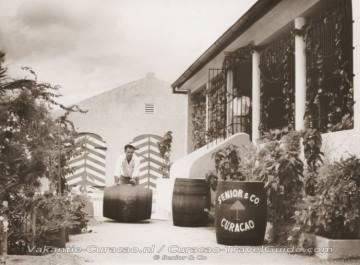 Old photo of the liqueur distillery Senior & Co