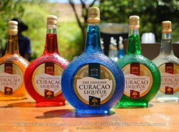 various liqueurs of Curacao
