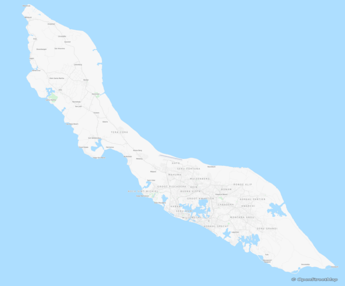 Map of Curacao by OpenStreetsMap